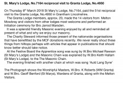 ST MARY'S VISIT TO GRANTA LODGE-8TH MARCH 2018